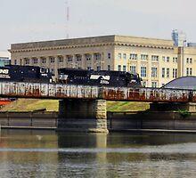 Downtown Train by Jeffrey J. Miller