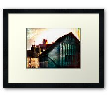 A Perfect Blue Building Framed Print