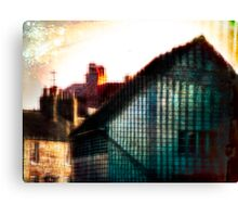 A Perfect Blue Building Canvas Print