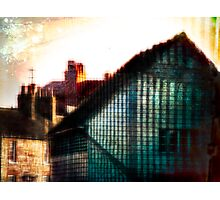 A Perfect Blue Building Photographic Print