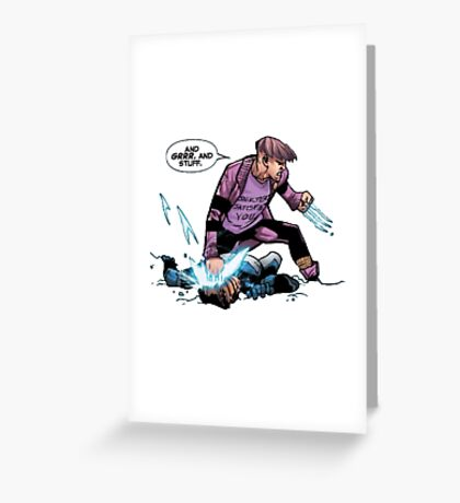 Quentin and the X-men Greeting Card