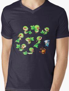 Snivy Gang Mens V-Neck T-Shirt