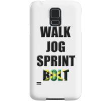 Walk, Jog, Sprint, BOLT! Samsung Galaxy Case/Skin