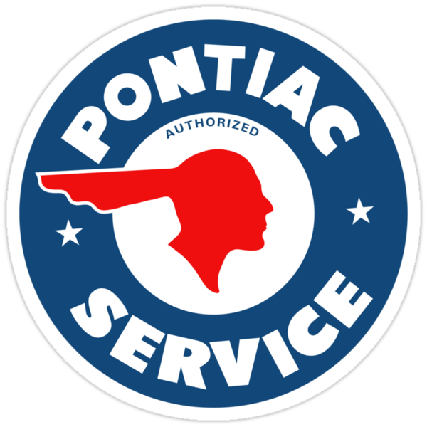 Pontiac Authorized Service vintage sign reproduction by htrdesigns
