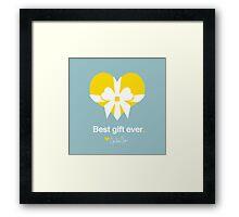 Love: Best Gift Ever Framed Print
