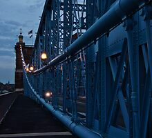 Dusk on the Roebling Bridge by Jeanne Sheridan