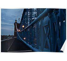 Dusk on the Roebling Bridge Poster