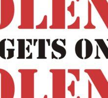 Violence Begets Only Violence Sticker