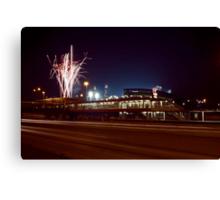 Chicago White Sox Homer fireworks Canvas Print