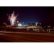 Chicago White Sox Homer fireworks Photographic Print