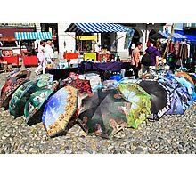 Ambrelas in the market - Lukarno Swiss Photographic Print