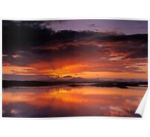 Sunset over the Isles from Craobh Haven Poster