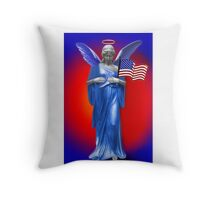PATRIOTIC ANGELIC PROTECTION FOR THE U.S.A. THROW PILLOW Throw Pillow