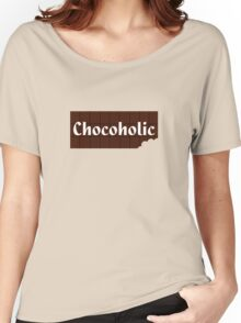 Chocoholic T-shirt ~ I Love Chocolate Sticker Women's Relaxed Fit T-Shirt