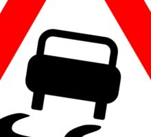 Road Sign T-Shirt ~ Slippery When Wet Tee ~ Speeding Top Sticker
