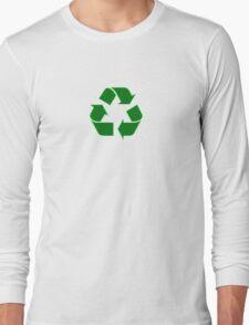 Recycling T-Shirt - I Love Recycling Logo Top Long Sleeve T-Shirt