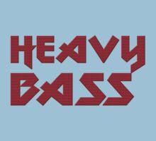 Heavy Bass T-Shirt - I Love Bass Music Top One Piece - Short Sleeve