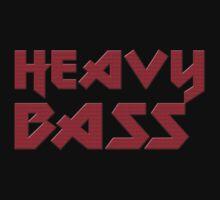 Heavy Bass T-Shirt - I Love Bass Music Top by deanworld