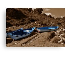 Lonely Boats Canvas Print