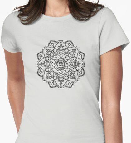 Bubbly Mandala Womens Fitted T-Shirt