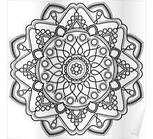 Bubbly Mandala Poster