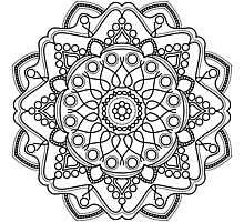 Bubbly Mandala Photographic Print