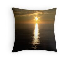 Sunset over the ocean. Throw Pillow