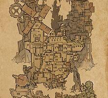 Map of Wyndia by Curtis Bathurst