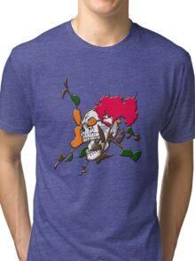 Skull in flower Tri-blend T-Shirt
