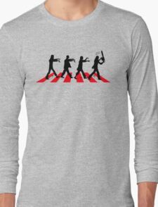 Zombies on Abbey Road (Version 02) Long Sleeve T-Shirt