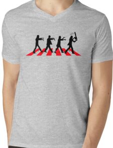 Zombies on Abbey Road (Version 02) Mens V-Neck T-Shirt