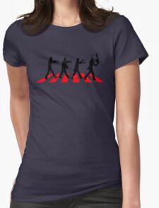 Zombies on Abbey Road (Version 02) Womens Fitted T-Shirt
