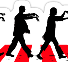 Zombies on Abbey Road (Version 02) Sticker