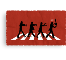 Zombies on Abbey Road (Version 02) Canvas Print