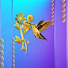 Gold Hummingbird by Lotacats