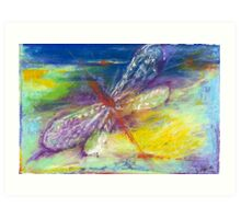 Dragonfly in Flight Art Print