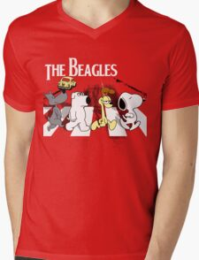 The Beagles Mens V-Neck T-Shirt