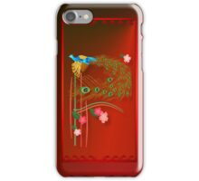 Flying Peacock and Cherry Blossoms iPhone Case/Skin