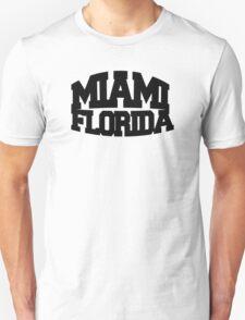 Miami Florida - black T-Shirt