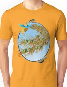 Flying Peacock and Cherry Blossoms Unisex T-Shirt