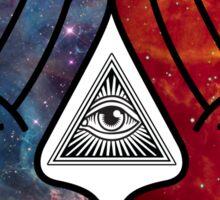 Space Illuminati Hands Diamond Sticker