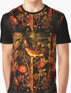 POMPEII COLLECTION NIGHTINGALE WITH RED ROSES Graphic T-Shirt