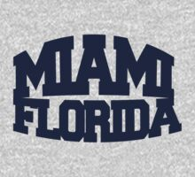 Miami Florida - navy One Piece - Long Sleeve