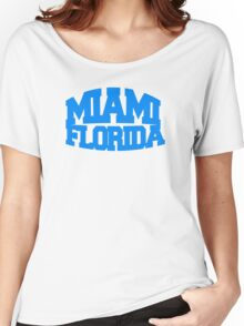 Miami Florida - blue Women's Relaxed Fit T-Shirt