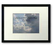 """Psalm 103:17""  by Carter L. Shepard Framed Print"