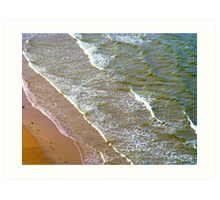 Rolling Gently To The Shore Art Print
