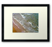 Rolling Gently To The Shore Framed Print