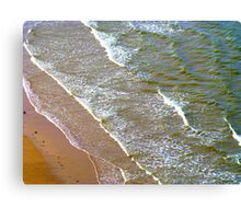 Rolling Gently To The Shore Canvas Print