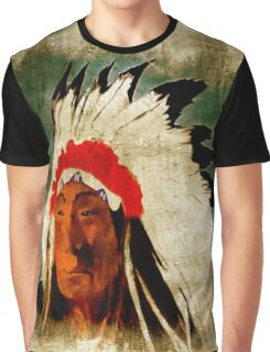 American Indian Chief Graphic T-Shirt
