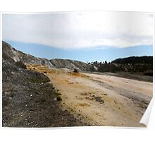 Lower Terrace of Mammoth Hot Springs  Poster